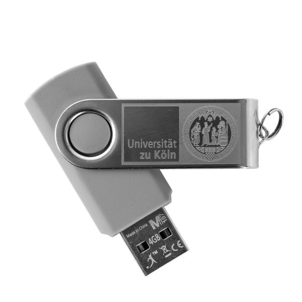 USB Stick, grey, corporate