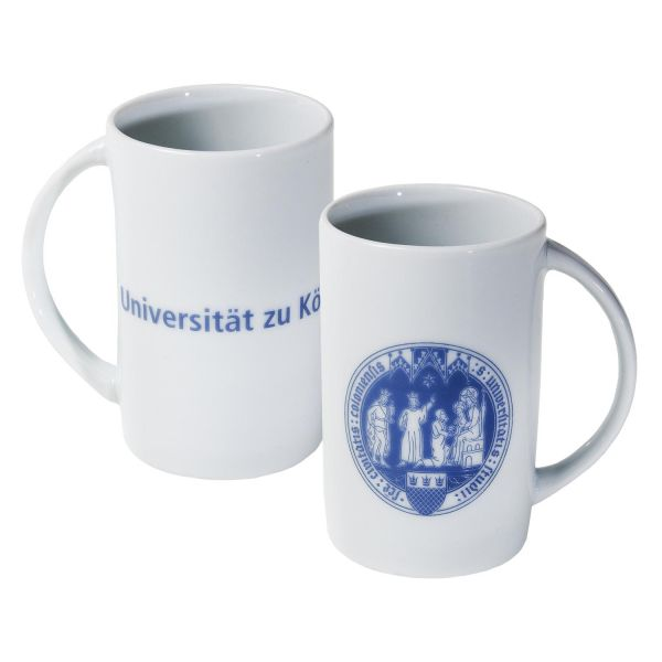 Keramiktasse, weiß, corporate