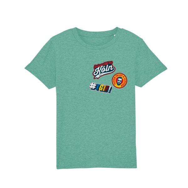 Kids Organic T-Shirt, heather green, patchit