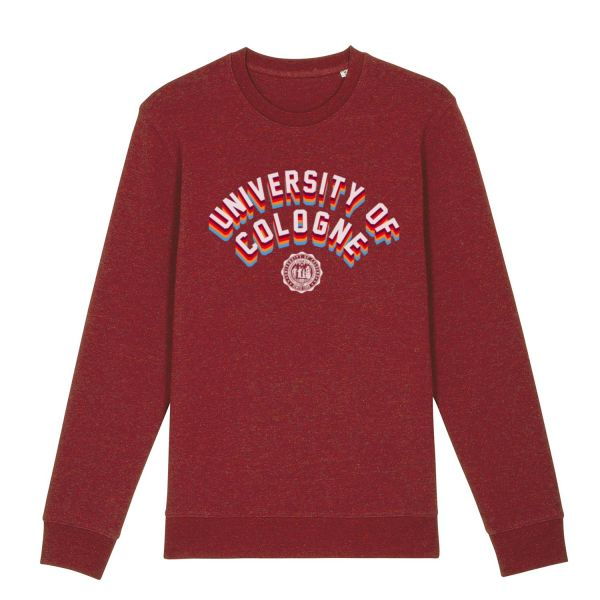Unisex Sweatshirt, neppy burgundy, statement