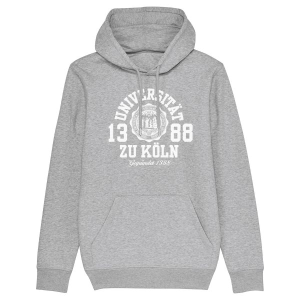 Unisex Hooded Sweatshirt, heather grey, marshall