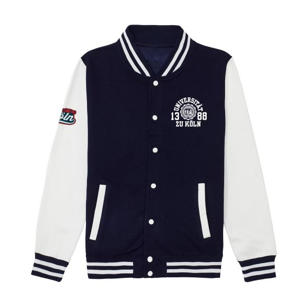 Unisex College Jacket, navy / white, marshall