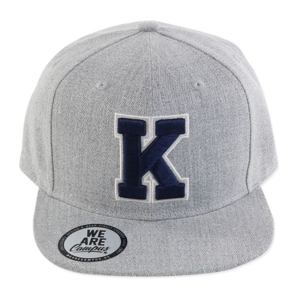 "Campus Cap, heather grey, ""K"""