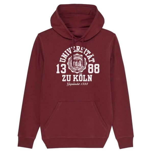 Unisex Hooded Sweatshirt, burgundy, marshall