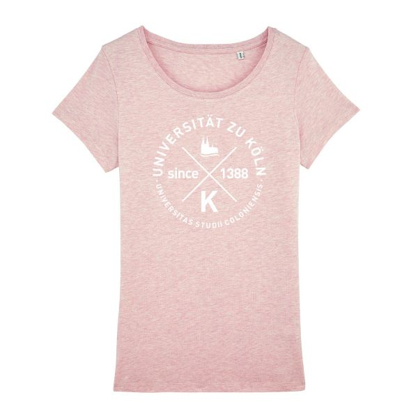 Damen Organic T-Shirt, heather pink, glasgow